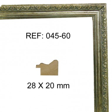 Silver moulding 28x20 mm