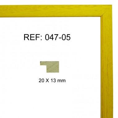 Moldura amarilla 20x13 mm