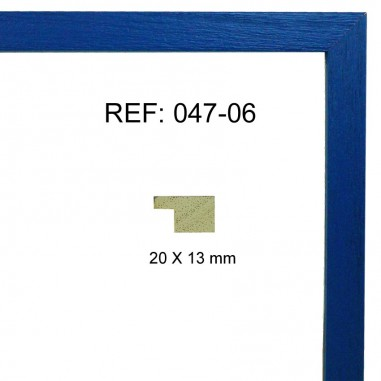 Moldura azul 20x13 mm