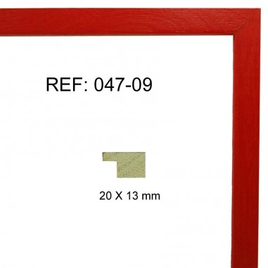 Red moulding 20x13 mm