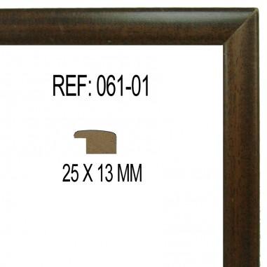 Moldura Nogal 25x13 mm