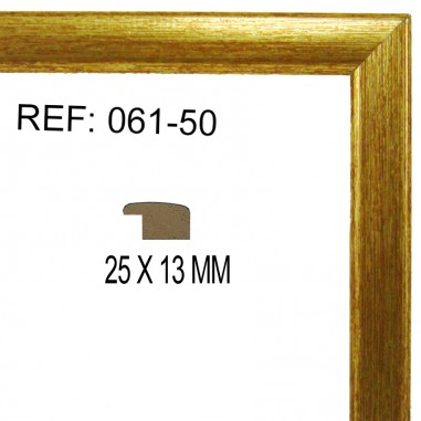 Moldura Oro 25x13 mm