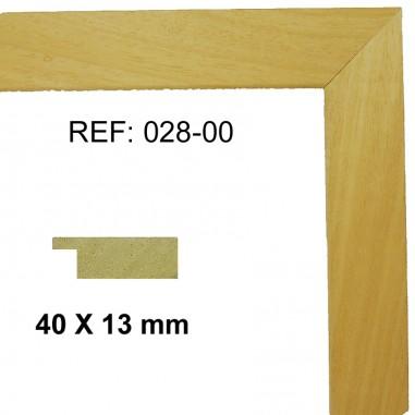 Natural wood moulding 40x13 mm