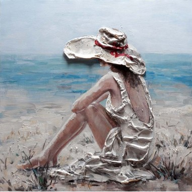 Cuadro pintura original italiana DIPI W626