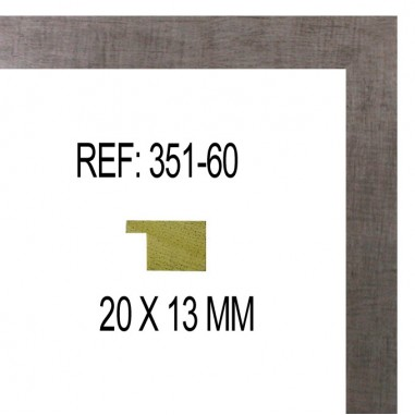 Moldura Plata 20 x 14 mm