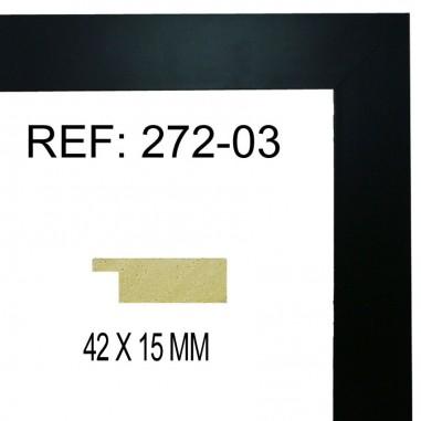 Moldura Negro 42 x 15 mm