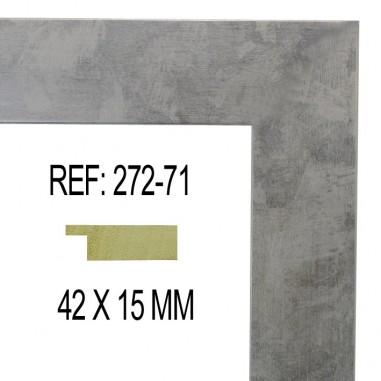 Moldura Plata Brillo 42 x 15 mm