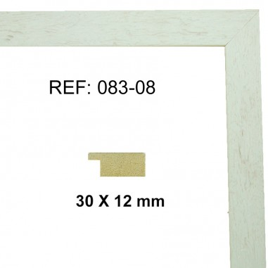 White moulding 28x13 mm