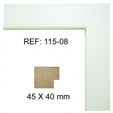 White moulding 40 x 40 mm
