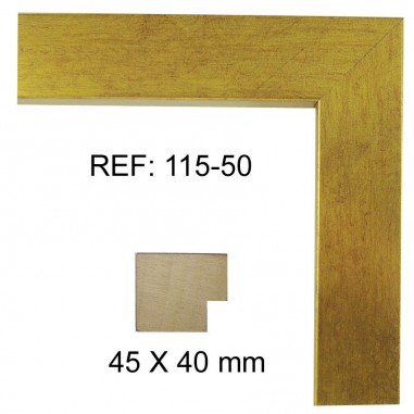 Gold moulding 40 x 40 mm