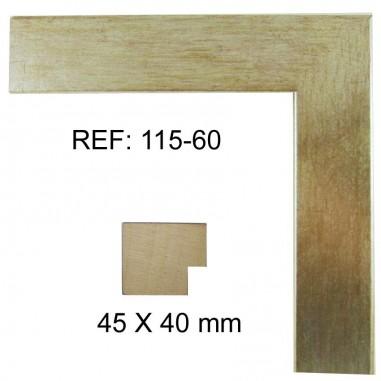 Moldura Plata 40 x 40 mm