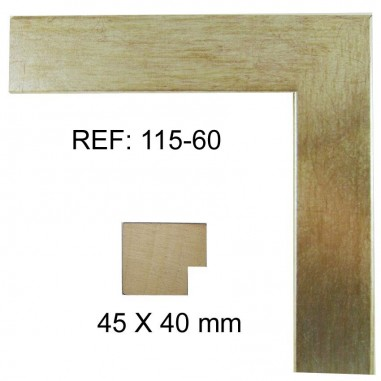 Silver moulding 40 x 40 mm