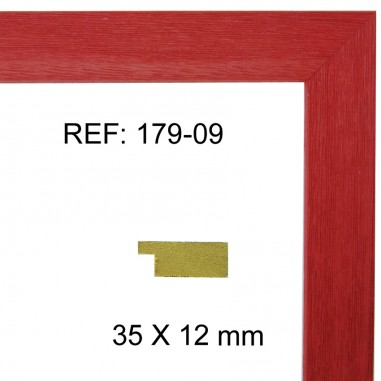 Moldura roja 35x13 mm