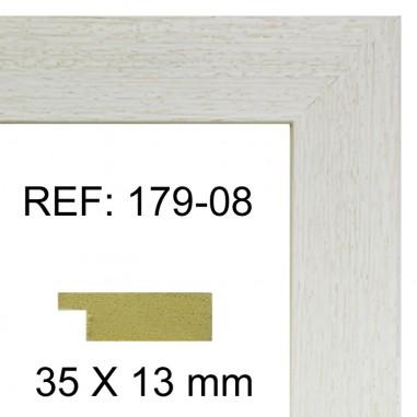 Moldura blanca 35x13 mm