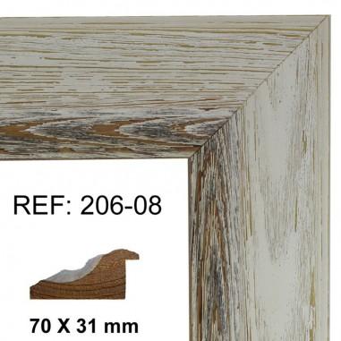 Moldura blanca 70x30 mm