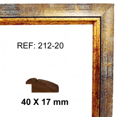 Gold and Silver moulding 40x17 mm
