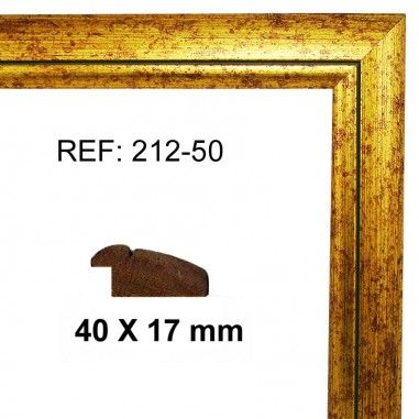 Gold moulding 40x17 mm