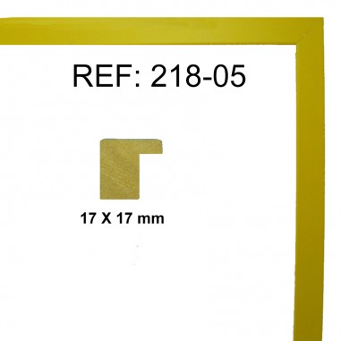 Yellow moulding 17 x 17 mm
