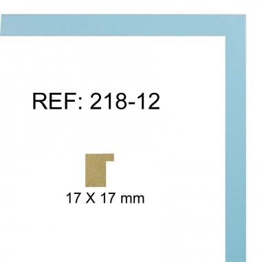 Light blue moulding 17 x 17 mm