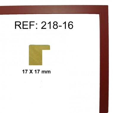 Moldura Caoba 17 x 17 mm