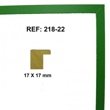 Moldura Verde claro 17 x 17 mm
