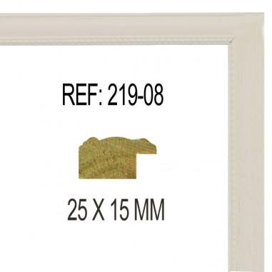 White moulding 25x13 mm