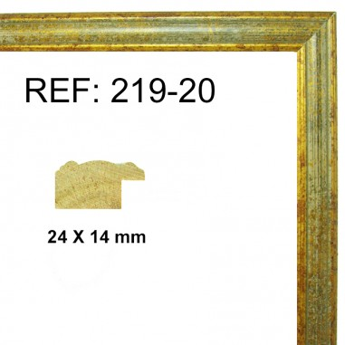 Gold and silver moulding 25x13 mm