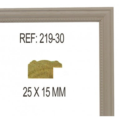 Beige moulding 25x13 mm