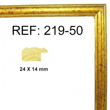 Gold moulding 25x13 mm