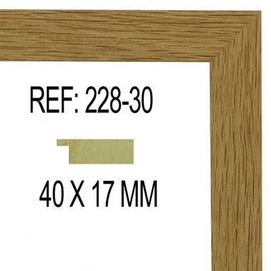 Moldura Roble 40x17 mm