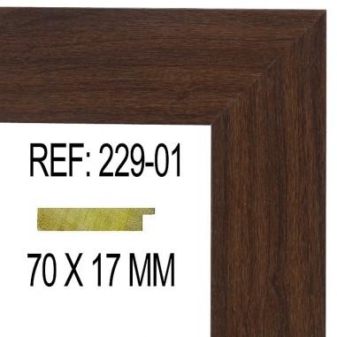 Walnut moulding 70x17 mm
