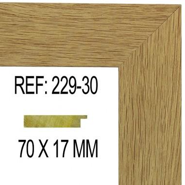 Oak moulding 70x17 mm