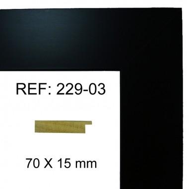 Moldura Negra70x17 mm