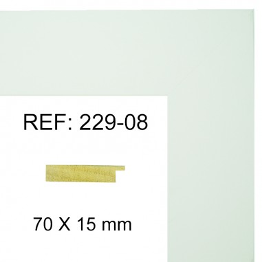 Moldura Blanca 70x17 mm