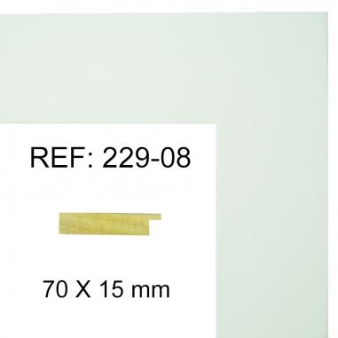 White moulding 70x17 mm