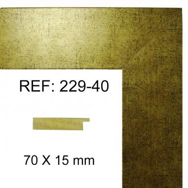 Gold moulding 70x17 mm