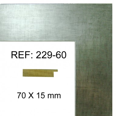 Silver moulding 70x17 mm