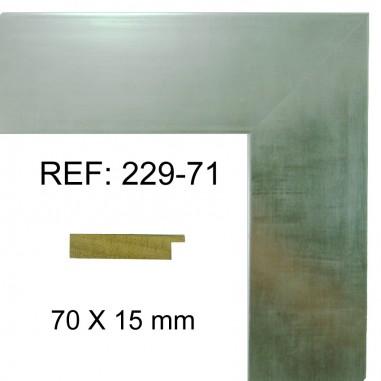 Moldura Plata brillo 70x17 mm