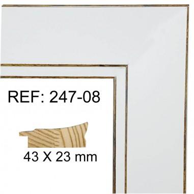 Moldura Blanca 45 x 25 mm