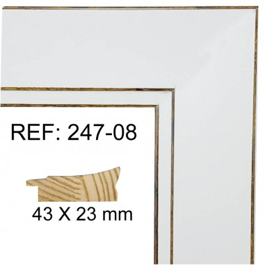 White moulding 32x15 mm