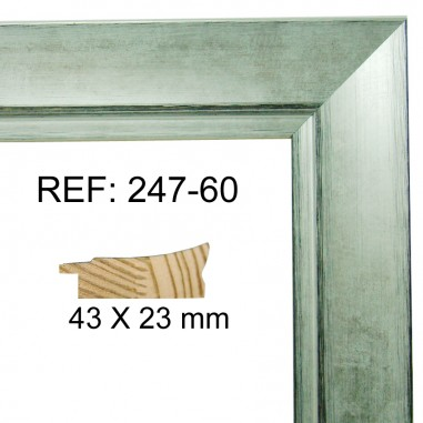 Silver moulding 32x15 mm