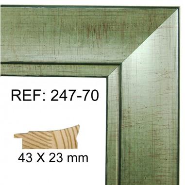 Moldura Plata Vieja 45 x 25 mm