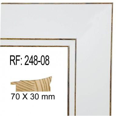 Moldura Blanca 70 x 30 mm