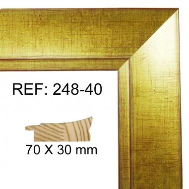 Gold moulding 70x30 mm