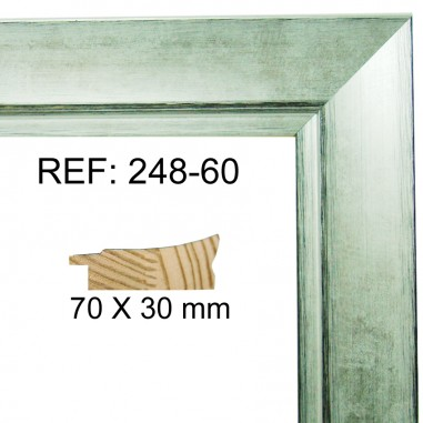 Silver moulding 70x30 mm