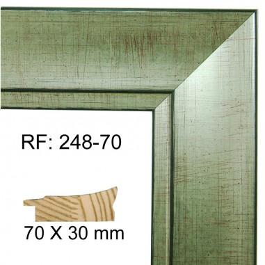Moldura Plata Vieja 70 x 30 mm