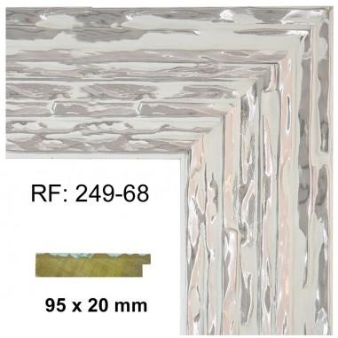 Moldura Plata y blanco 95 x 20 mm