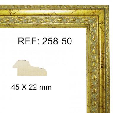 Gold moulding 45 x 25 mm