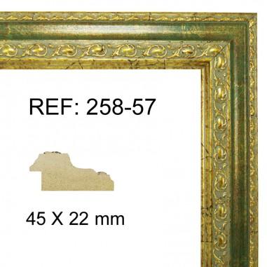 Moldura Oro y Verde 45 x 25 mm