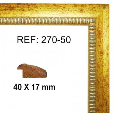 Gold moulding 40 x 15 mm